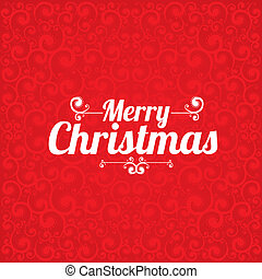 Merry christmas design over red background vector...