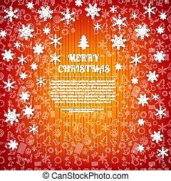 Merry Christmas Design Postcard