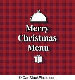 Merry Christmas Dinner Menu card
