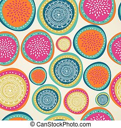 Merry Christmas elements colorful bauble seamless pattern. -...