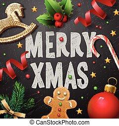 Merry Christmas festive background