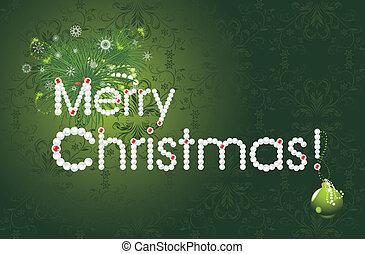 Merry Christmas. Festive card