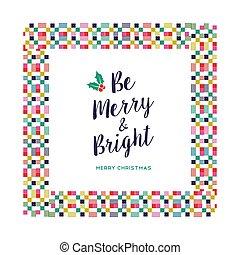 Merry Christmas festive color decoration card - Merry...
