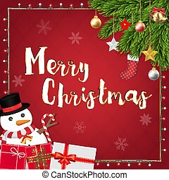 merry christmas festive decoration banner
