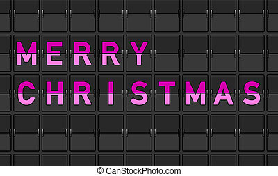 Merry Christmas Flip Board