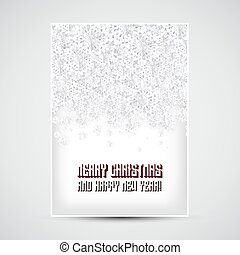 Merry Christmas Flyer with Snowflakes
