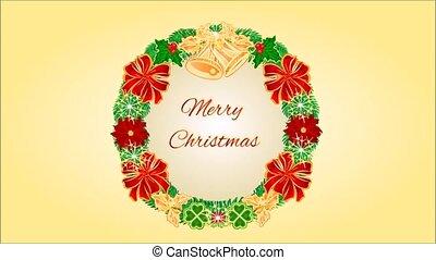 Merry Christmas four Advent wreaths - Animation of...