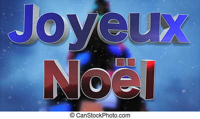 Merry Christmas French Language Background Loop - Merry...