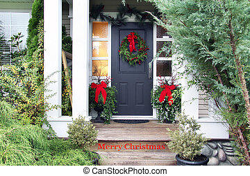 Merry Christmas front door