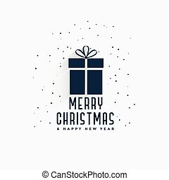 merry christmas gift background design