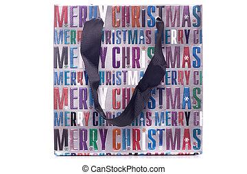 Merry christmas gift bag cutout