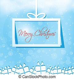 Merry Christmas gift box card
