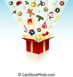 Merry Christmas gift, box