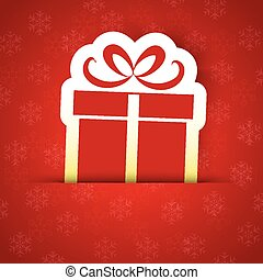 Merry Christmas gift card with a simple Gift sign