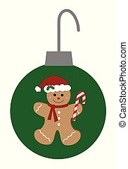 Merry Christmas Gingerbread Ornament