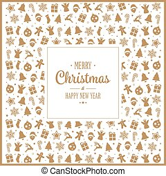 merry christmas gold decoration pattern elements background