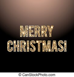 Merry Christmas golden letters