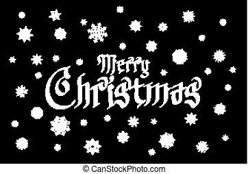 Merry Christmas gothic lettering design. Vector illustration EPS 10