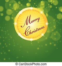 merry christmas, green background