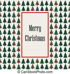 Merry Christmas green withe card tree background. Vector...
