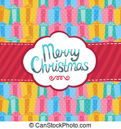 Merry Christmas greeting card background.