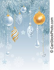 Merry Christmas greeting card - Christmas greeting card with...