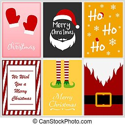 Merry Christmas greeting card design template, vector illustration