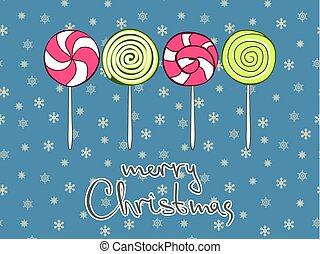 Merry Christmas greeting card design template. Vector illustration.