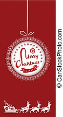 Merry Christmas greeting card, flyer or poster design. Vector illustration.