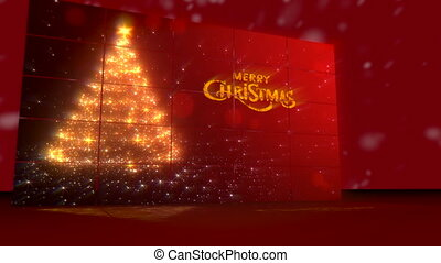 Merry Christmas greeting card - Merry Christmas postcard