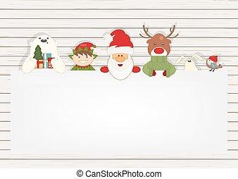 Merry Christmas Greeting Card - Santa Claus and Xmas...