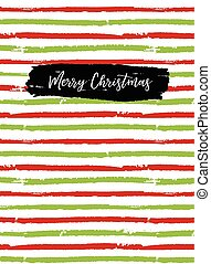 Merry Christmas greeting card, sketchbook cover