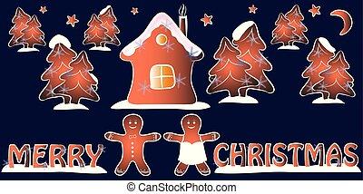merry christmas greeting card vector illustration.