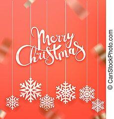 Merry Christmas greeting card. Vector illustration