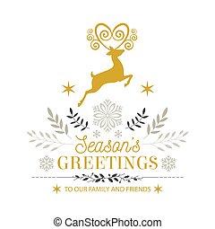 Merry christmas greeting card , Vector illustration