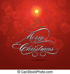 Merry Christmas greeting card, vector