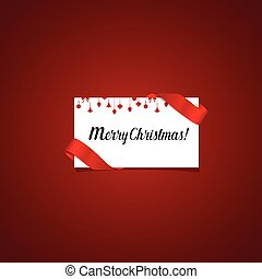 Merry Christmas Greeting Card with Christmas decoration, vector illustration