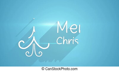 merry christmas greeting last 5s loopable