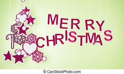 merry christmas greeting loop