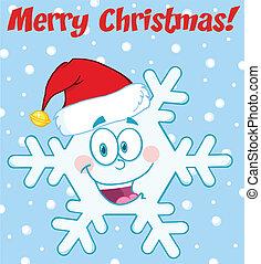 Merry Christmas Greeting Snowflake