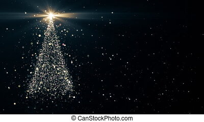 Merry christmas greeting video card christmas tree with shining merry christmas greeting video card m4hsunfo