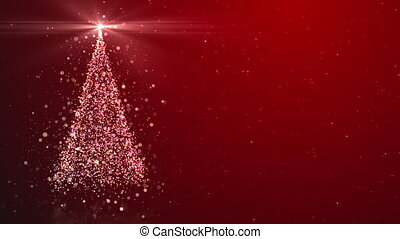 Merry Christmas greeting video card
