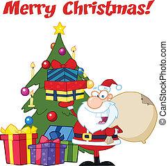 Greeting With Santa Claus
