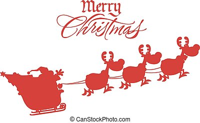 Merry Christmas Greeting With Santa