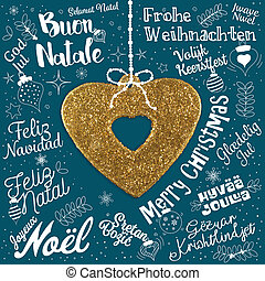 Merry christmas greetings card from world in different languages merry christmas greetings card from world in different languages m4hsunfo