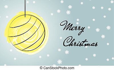 Merry Christmas greetings card with