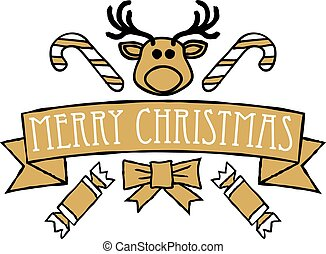Merry Christmas Greetings Text Design