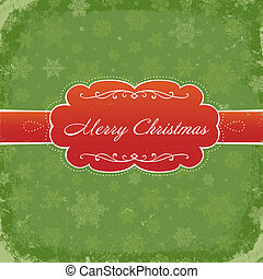 Merry Christmas Grunge Invitation Background. Vector, Eps8.