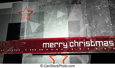 Merry Christmas Grungy Background - Computer generated,...