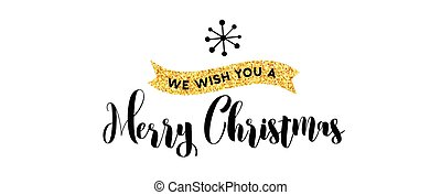 Merry Christmas hand drawn card, illustrations and icons, lettering design